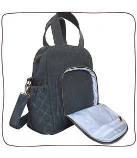 Baby Bag Trio Cinza Grafite