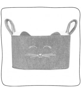 Organizador Slim Plush Cinza - Cat Lover
