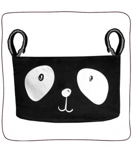 Organizador Slim Plush Mr. Panda Preto & Branco